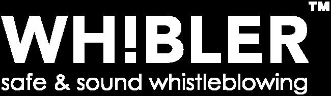 visselblåsare Whibler logotype vit med tagline